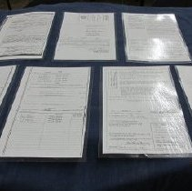 Image of Documents -  Property deeds and warrants for Seneca Knights of Columbus