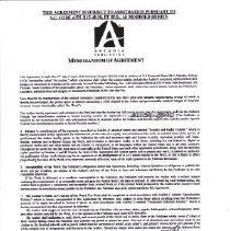 Image of Documents - Memorandum of Agreement between Arcadia Publishing and Greg Newlin