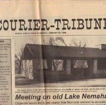 Image of Newspaper - Lake Nemaha Chronology