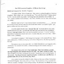Image of Script - WWI American Doughboy Presentation