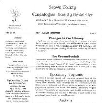 Image of Newsletter - Brown County Genealogical Society Newsletter