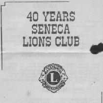 Image of Booklet - Seneca Historical Booklets