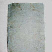"Image of Soft cover book, light blue cover; home made.  ""Christian Songs"" in ink, hand written.  Inside cover:  (signature)  Abby H. Smith - Museum Collection"