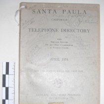 Image of Santa Paula, California Telephone Directory -