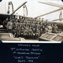 Image of 3rd Battalion Officers' Mess HMT Tunisia 1914
