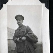 Image of Lieutenant Baptist Johnston at Valcarier with 3rd Bn