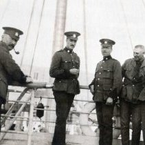 Image of Group of 3rd Bn Officers on the Tunisia 1914 - None would return