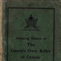 Image of 1925 Standing Orders of the Queen's Own Rifles of Canada - 1925