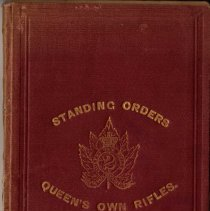 Image of 1880 Standing Orders Queen's Own Rifles - 31/03/1880