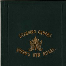 Image of 1894 Standing Orders Queen's Own Rifles - 28/03/1894