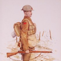 Image of Sketch of 3rd Battalion, CEF soldier by Barry Rich