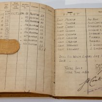 Image of Percy Hampton Pilot's Flying Log Book WWI