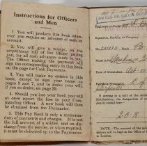 Image of Private Walter Meakins Paybook