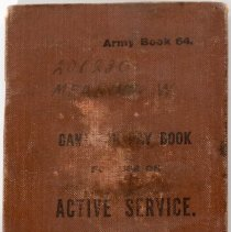 Image of 201230 Private Walter Meakins Paybook -