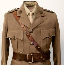 Image of 166th Battalion Capt J. E. Flavelle uniform
