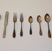 Image of 166th Battalion Silver Flatware Set -