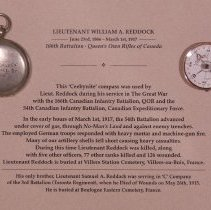 Image of Compass used by Lt William A. Reddock 155th Bn CEF