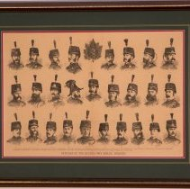 Image of 1870 Collage of Officers Sketches