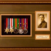 Image of Lieutenant Robert C. Rae Shadow Box -