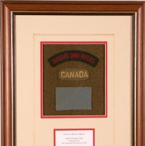 Image of Rifleman Russ G. McCallum Shadowbox