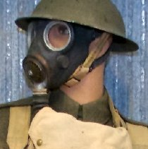 Image of Gas Mask and Pouch -