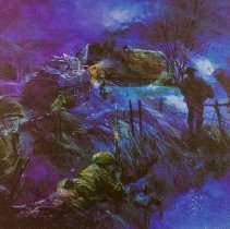 Image of Sergeant Aubry Cosens, VC, 16 Platoon, D Company, QOR of C in Action at Mooshof, Germany - 1945/02/26