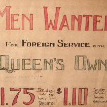 Image of WWI QOR Recruiting Poster - 21/08/1914