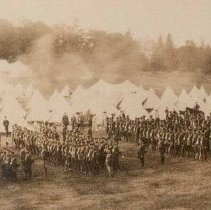 Image of Queen's Own Rifles at Valcartier Camp, 1914