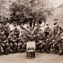 Image of Brass Band, 1st Battalion The Queen's Own Rifles of Canada Canadian Overseas 1941 - 1941