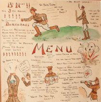 Image of Officers' Mess Menu 1917 - 1917
