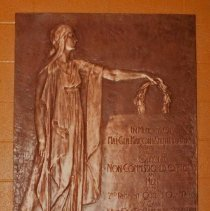 Image of Bronze Memorial Plaque at Armoury -