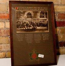 Image of Departure of the QOR for Valcartier 1914 Framed
