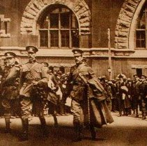 Image of Departure of the QOR for Valcartier 1914