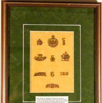 Image of Collection of Cap Badges found on WWI Soldier