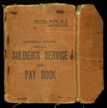 Image of Soldier's Service and Pay Book - Jackson