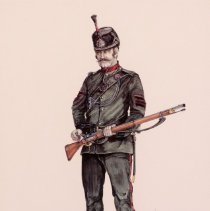 Image of Watercolour Painting of a Soldier -