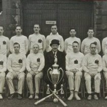 Image of QOR Officers Indoor Baseball Team Garrison Champions - Eastern Canada 1935-36 - /  /