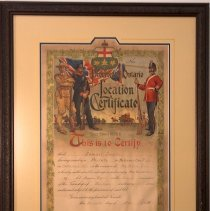Image of Location Certificate 1903