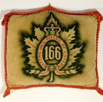 Image of 166 Overseas Battalion Velvet Pillow -