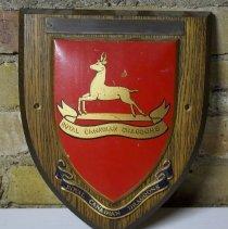 Image of Royal Canadian Dragoons (RCD) Wooden Shield -