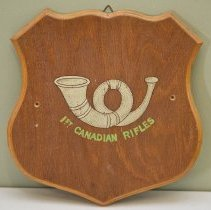 Image of 1st Canadian Rifles Wooden Plaque -