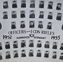 Image of Officers - 1 CDN Rifles Hannover Germany 1952-53 -