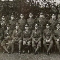 Image of Detachment of Queen's Own Rifles of Canada who visited 2nd Battalion The Buffs Bordon, October 1935 -