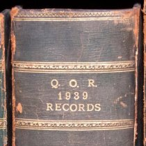 Image of QOR 1939 Records - Book, Record