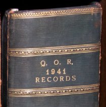 Image of QOR 1941 Records - Book, Record