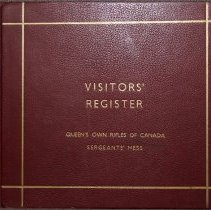 Image of Sergeants' Mess Visitor Register