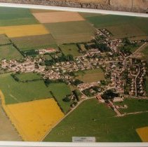 Image of Framed aerial photograph of Anisy, France
