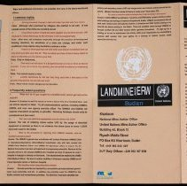 Image of UN Sudan Landmine and ERW Pamphlet
