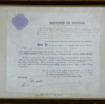 Image of 01055 - Certificate