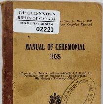 Image of Manual of Ceremonial 1935 - 02220